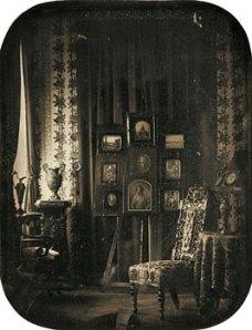 Baron Jean-Baptiste-Louis Gros (1793-1870), Vue du salon du Baron Gros, vers 1850-1857