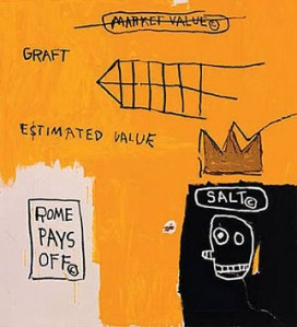 """Rome Pays Off"" by Jean-Michel Basquiat.  Available from heliumfoundation.com"