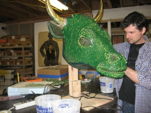 Herb Williams in his studio