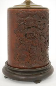 Chinese Imperial Bamboo Brushpot, 18th c.