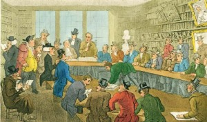 'Christie's Auction' by Thomas Rowlandson