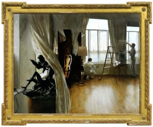 """The Plasterers"" by John Koch painting"