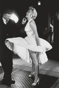 George S.  Zimbel:  'Marilyn Monroe and Billy Wilder, The Seven Year Itch, New York, 1954'.  Being auctioned by artnet auctions