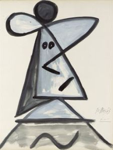 Pablo Picasso (1881-1973) Tête de femme signed and dated '30 Mars 43 Picasso' (lower right) gouache and wash on paper 25 7/8 x 19 7/8 in. (65.7 x 50.4 cm.) Executed on 30 March 1943