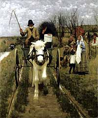 Henry Herbert La Thangue's Leaving Home